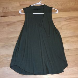Express size large olive green tank